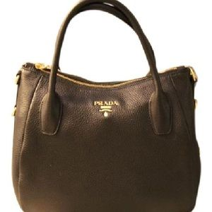 Prada Vitello Daino Tote Hobo BR4992 Nero Black